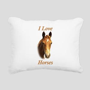 horses foal Rectangular Canvas Pillow
