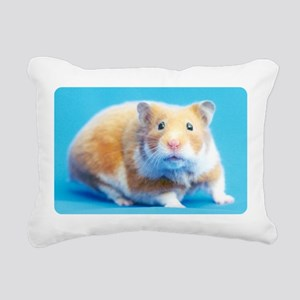 Cinnamon Syrian Hamster Rectangular Canvas Pillow