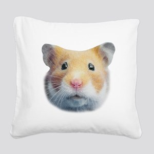 Cinnamon Syrian Hamster Square Canvas Pillow