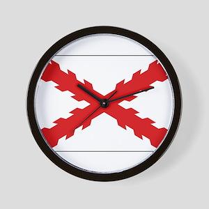 Spain - Cross of Burgundy - 1506-1701 Wall Clock