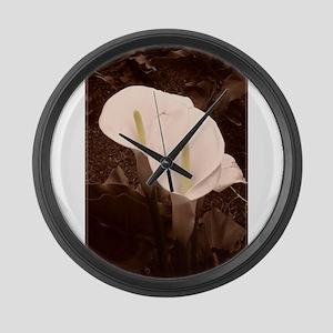 Calla Lily Pair Large Wall Clock