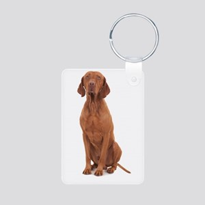 Vizsla Aluminum Photo Keychain