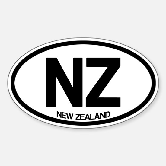 New Zealand Sticker (Oval)