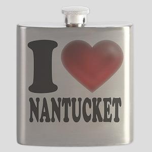 I Heart Nantucket Flask