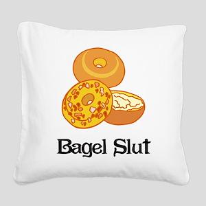 Bagel Slut Square Canvas Pillow