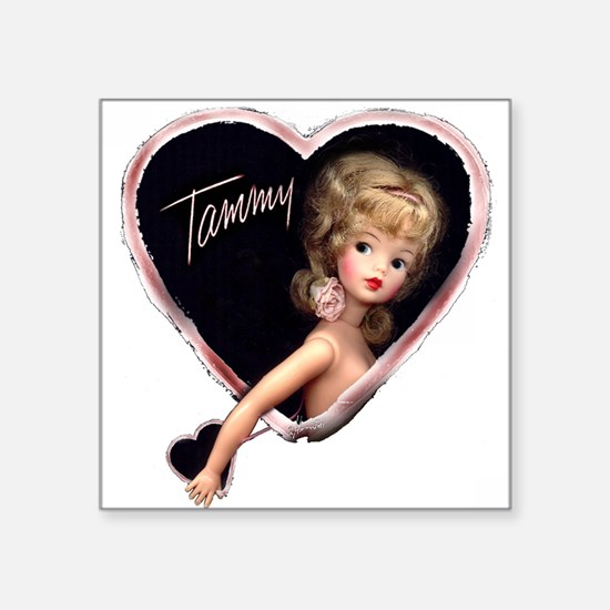"Sweetheart Tammy Square Sticker 3"" x 3"""