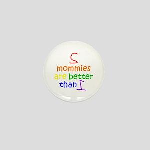 2 Mommies Mini Button