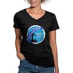 noreaster 2008 Women's V-Neck Dark T-Shirt