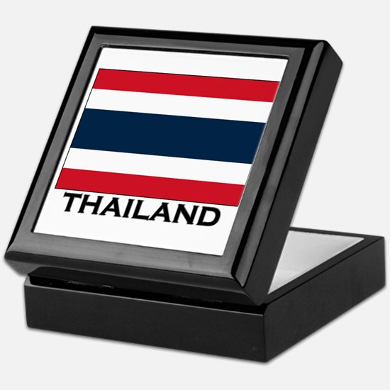 Thailand Flag Stuff Keepsake Box