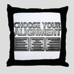 Alignment Throw Pillow