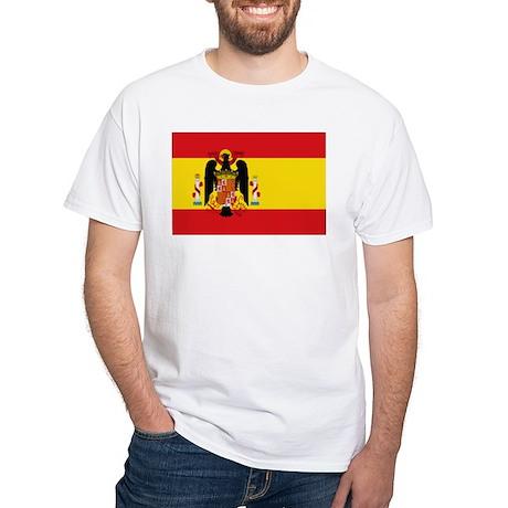 Spain - National Flag - 1945-1977 White T-Shirt