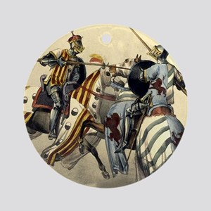 Knights Jousting Ornament (Round)