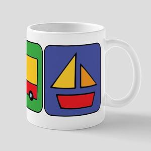 Boat & Car Squares Mug