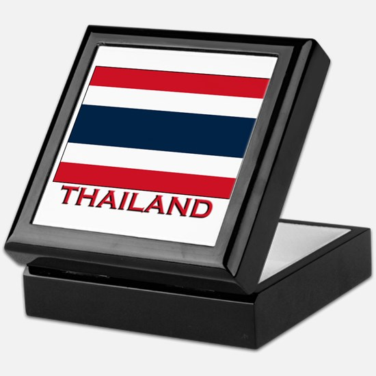 Thailand Flag Merchandise Keepsake Box