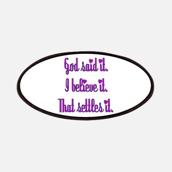 God Said It Purple Patches