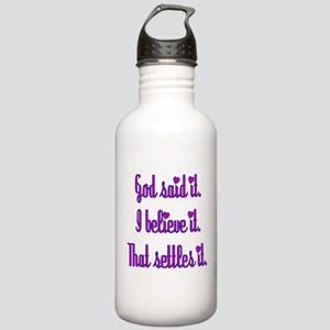God Said It Purple Stainless Water Bottle 1.0L