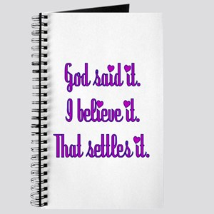 God Said It Purple Journal