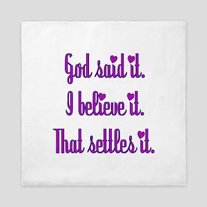 God Said It Purple Queen Duvet