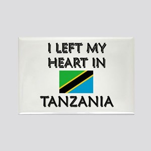 I Left My Heart In Tanzania Rectangle Magnet