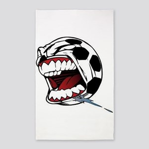 Screaming Soccer Ball 3'x5' Area Rug