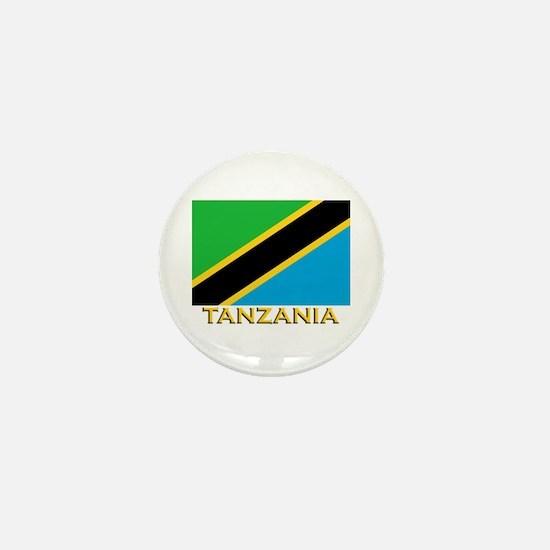 Tanzania Flag Gear Mini Button