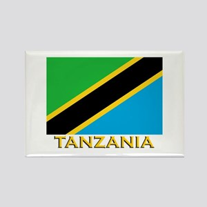 Tanzania Flag Gear Rectangle Magnet