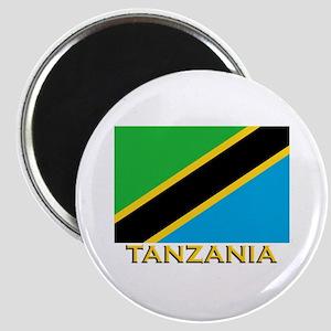 Tanzania Flag Gear Magnet
