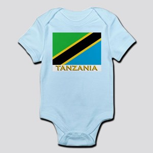 Tanzania Flag Gear Infant Creeper