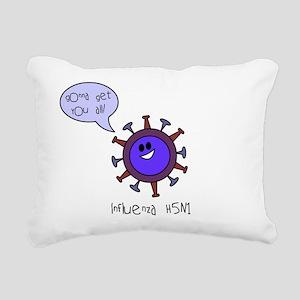 Bird Flu Rectangular Canvas Pillow