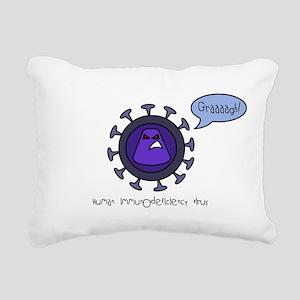 HIV Rectangular Canvas Pillow