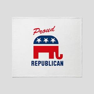 Proud Republican Throw Blanket