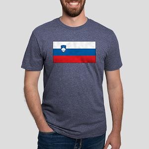 Slovenia - National Flag - Current Mens Tri-blend