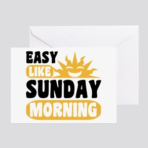 Easy like sunday morning greeting cards cafepress easy like sunday morning greeting card m4hsunfo