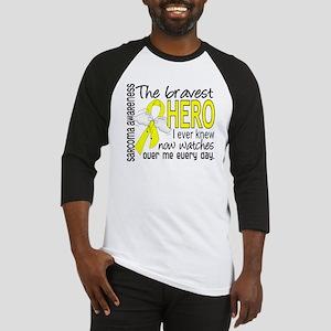 Bravest Hero I Knew Sarcoma Gifts Baseball Jersey