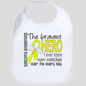Bravest Hero I Knew Sarcoma Gifts Bib