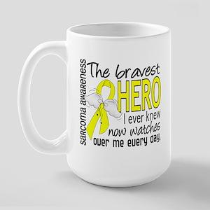 Bravest Hero I Knew Sarcoma Gifts Large Mug