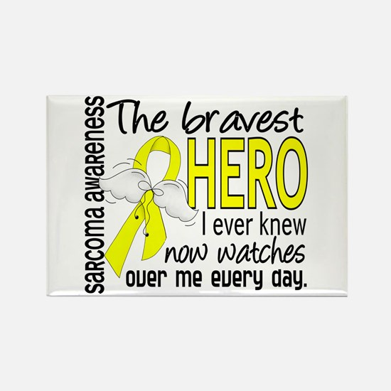 Bravest Hero I Knew Sarcoma Gifts Rectangle Magnet
