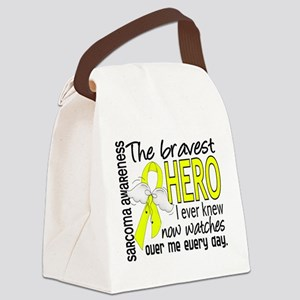 Bravest Hero I Knew Sarcoma Gifts Canvas Lunch Bag