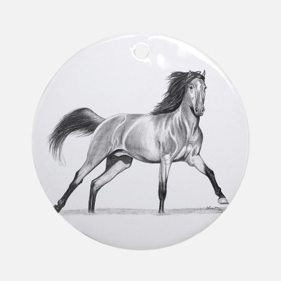 Buckskin Horse Ornament (Round)