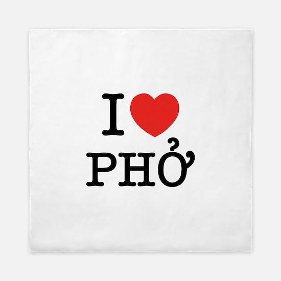I Love (Heart) Pho Queen Duvet