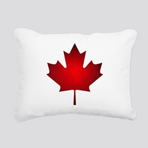 Maple Leaf Grunge Rectangular Canvas Pillow