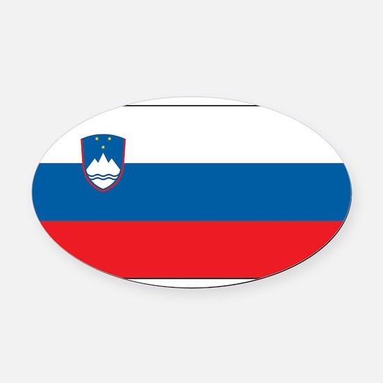 Slovenia - National Flag - Current Oval Car Magnet