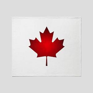 Maple Leaf Grunge Throw Blanket