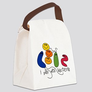 play bacteria w Canvas Lunch Bag