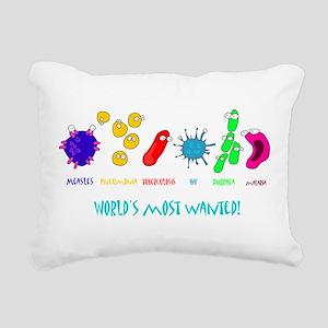 wanted W Rectangular Canvas Pillow