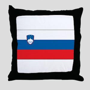 Slovenia - National Flag - Current Throw Pillow