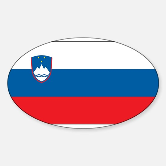Slovenia - National Flag - Current Sticker (Oval)