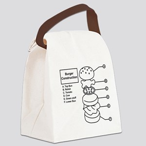 Burger Construction Canvas Lunch Bag