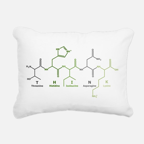 Think Peptide Rectangular Canvas Pillow