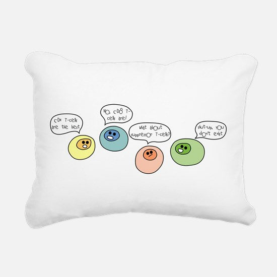 T Cell Wars Rectangular Canvas Pillow